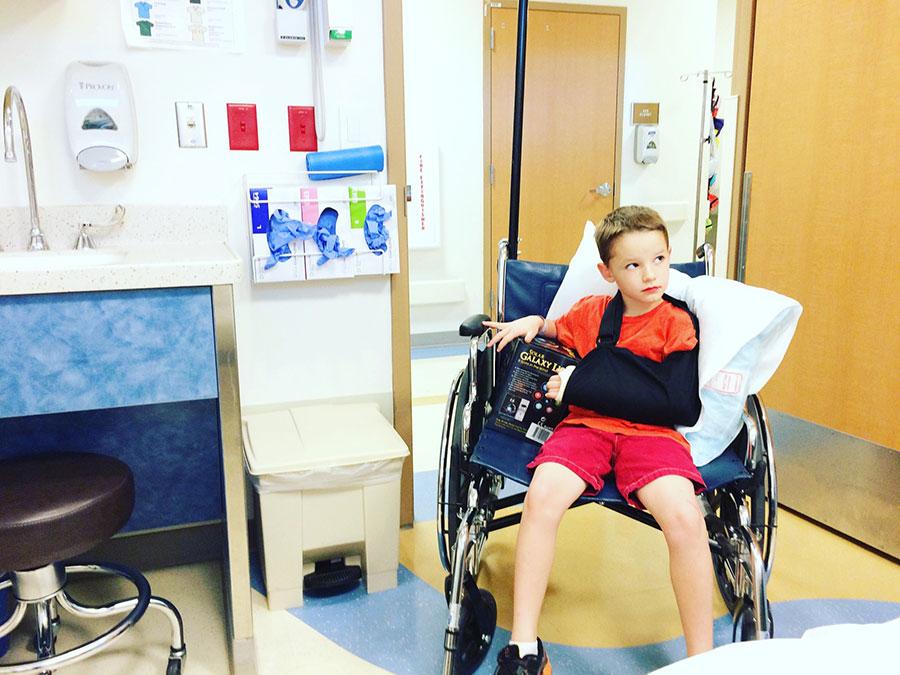 Hospitalisation enfant accident Suisse